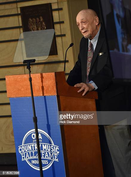 New Inductee Fred Foster attends the CMA Presentation of The 2016 Country Music Hall Of Fame Inductees Announcement at the Country Music Hall of Fame...