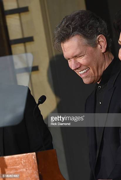 New Inductee Randy Travis attends the CMA Presentation of The 2016 Country Music Hall Of Fame Inductees Announcement at the Country Music Hall of...