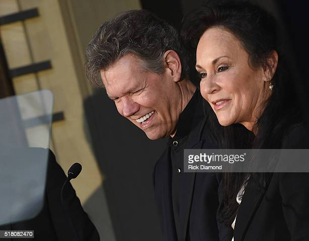 New Inductee Randy Travis with his wife Mary Travis attend the CMA Presentation of The 2016 Country Music Hall Of Fame Inductees Announcement at the...