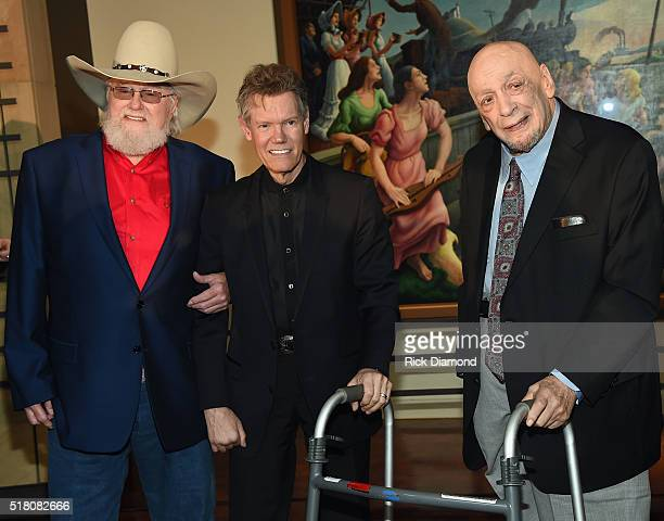 New Inductees Charlie Daniels Randy Travis and Fred Foster attend the CMA Presentation of The 2016 Country Music Hall Of Fame Inductees Announcement...