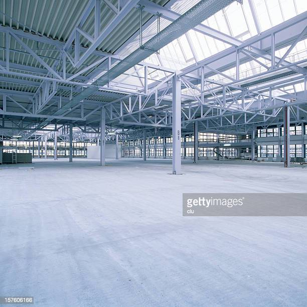 New industrial hall with glass ceiling