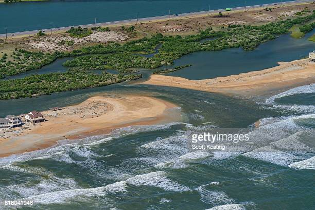New inlet created by Hurricane Matthew in Florida
