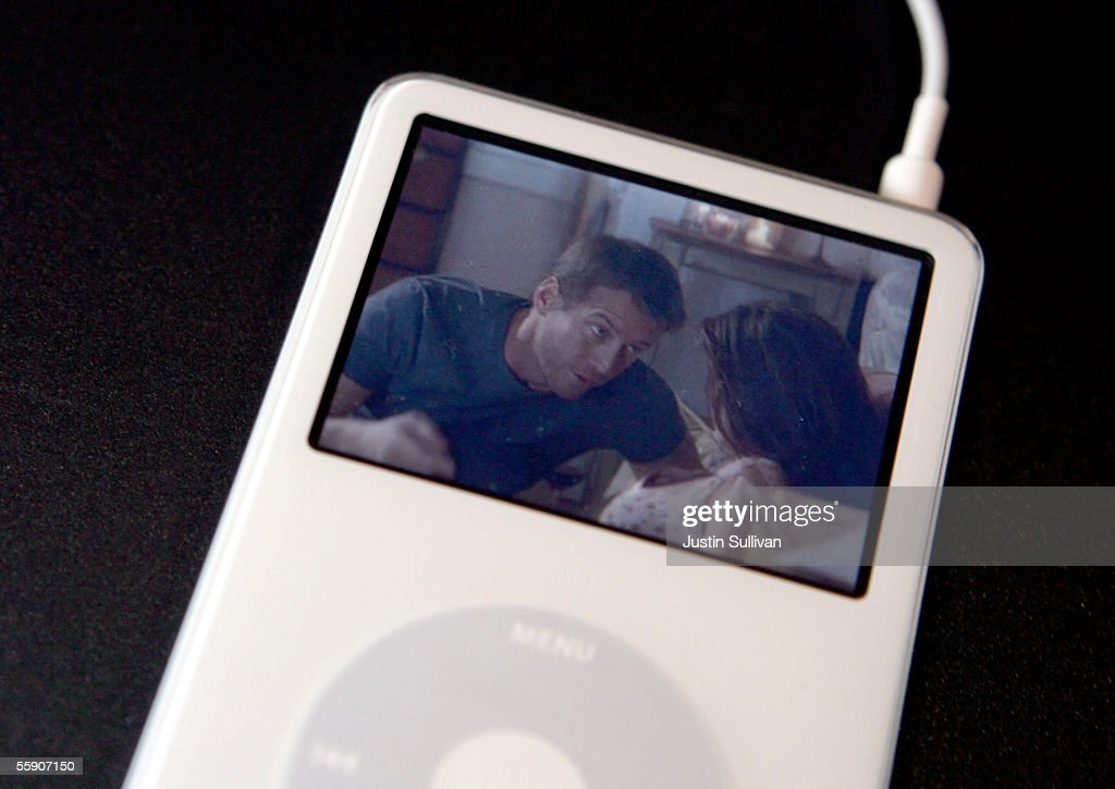 A new iPod with video capabilities plays an episode of the TV show 'Desperate Housewives' October 12, 2005 in San Jose, California. Apple CEO Steve Jobs announced a new iPod that plays video, a new iMac and new version of iTunes that allows people to purchase videos and television shows.