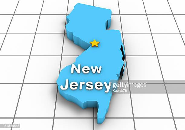 New Jersey 3D State Map