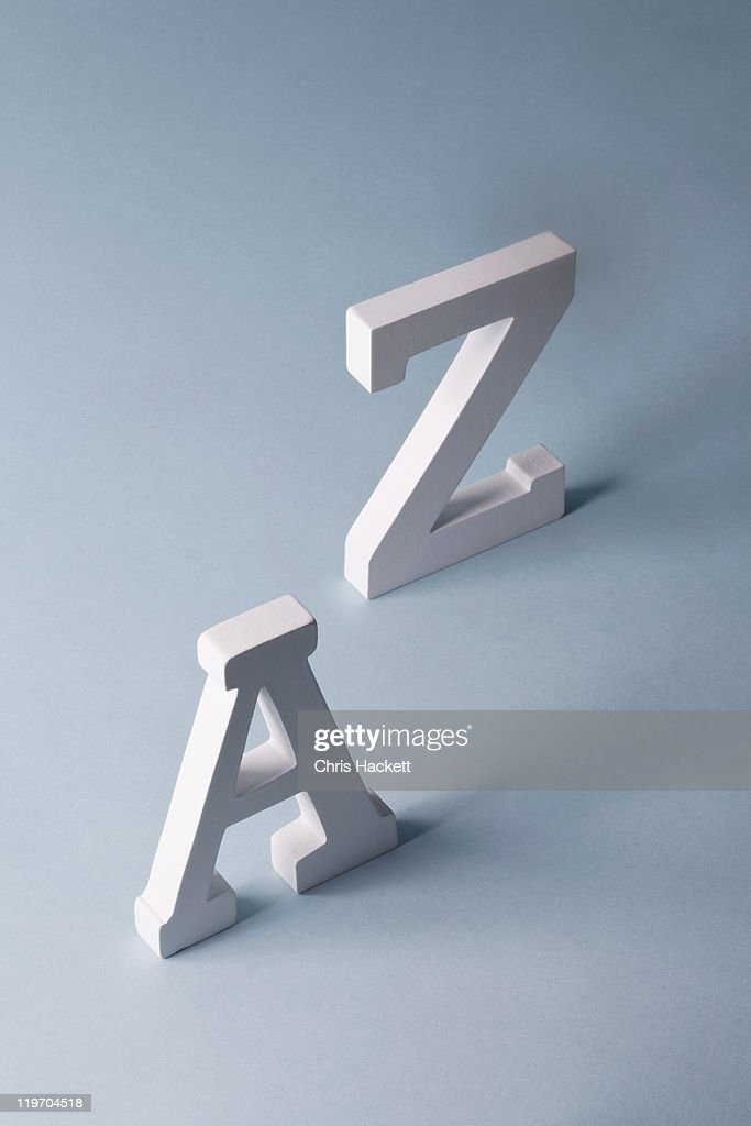 USA, New Jersey, A and Z 3d letters on blue background