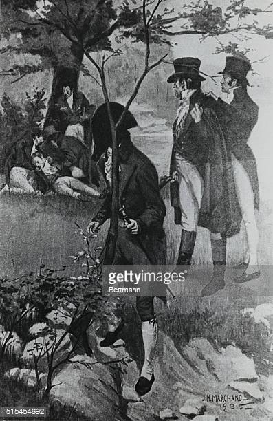 Alexander Hamilton Duel with Aaron Burr at Weehawken July 11 1804