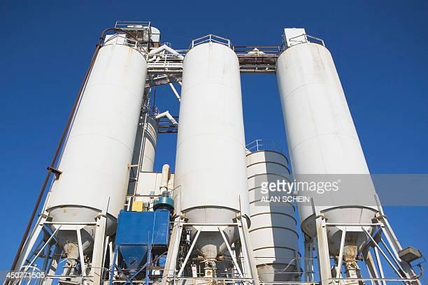 USA, New Jersey, Bayonne, New Jersey, Grain silos