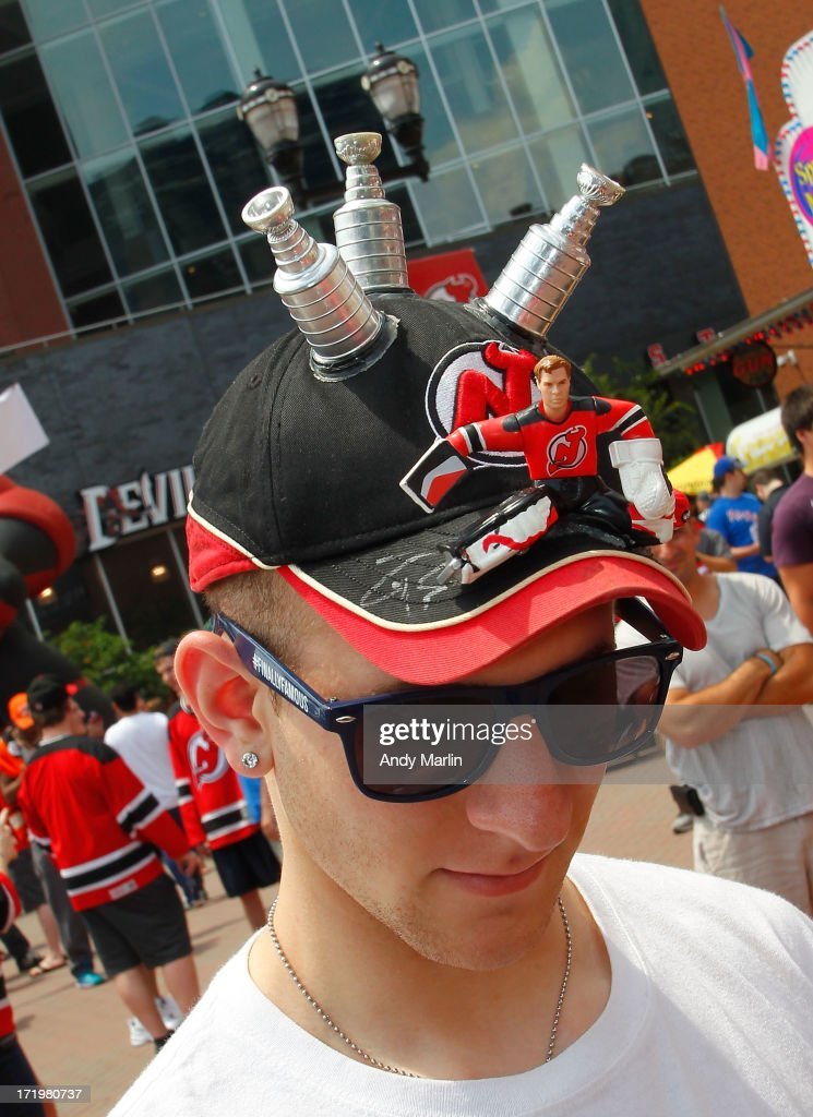 A New Jersey Devils fan attends the 2013 NHL Draft - Fan Fest at Prudential Center on June 30, 2013 in Newark, New Jersey.