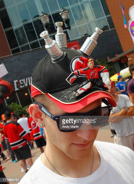 New Jersey Devils fan attends the 2013 NHL Draft Fan Fest at Prudential Center on June 30 2013 in Newark New Jersey