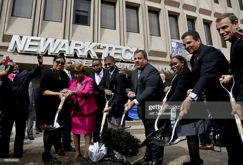 New Jersey Gov. <a gi-track='captionPersonalityLinkClicked' href=/galleries/search?phrase=Chris+Christie&family=editorial&specificpeople=6480114 ng-click='$event.stopPropagation()'>Chris Christie</a> appears at a groundbreaking ceremony at Essex County Community College on May 7, 2013 in Newark, New Jersey. Christie recently disclosed that he underwent a surgical procedure for weight loss in February 2013.