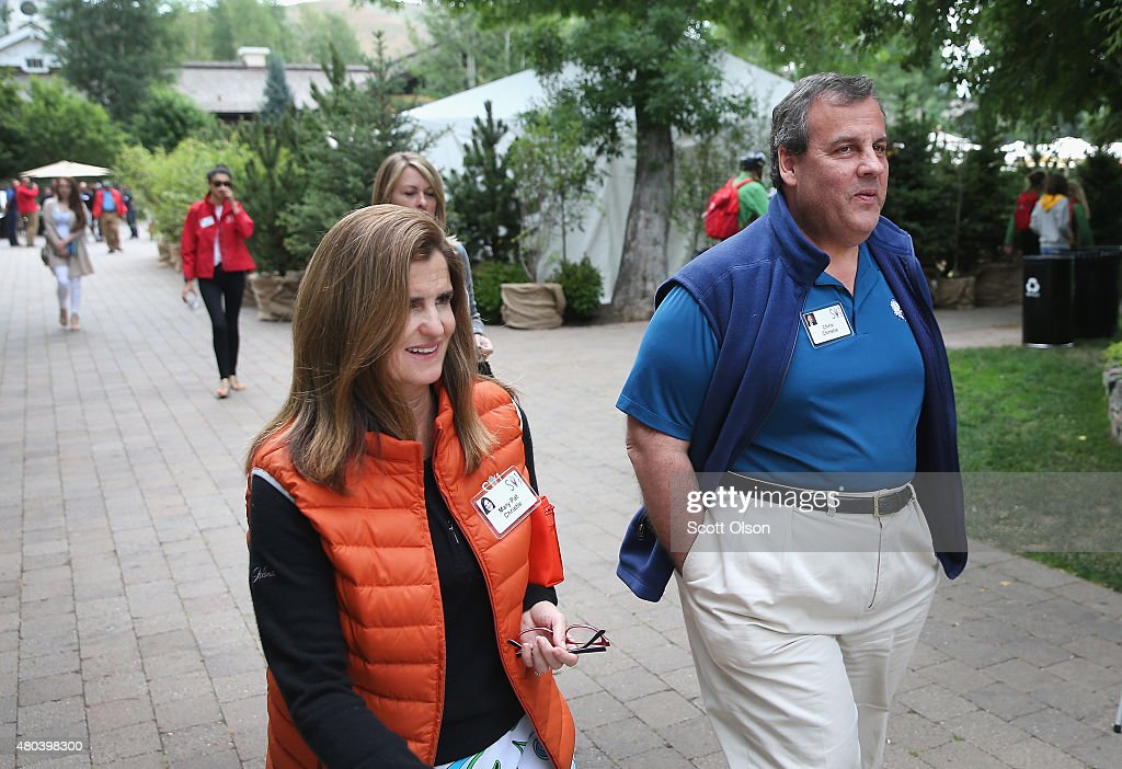 New Jersey Governor Chris Christie and his wife Mary Pat attend the Allen & Company Sun Valley Conference on July 11, 2015 in Sun Valley, Idaho. Many of the worlds wealthiest and most powerful business people from media, finance, and technology attend the annual week-long conference which is in its 33rd year.