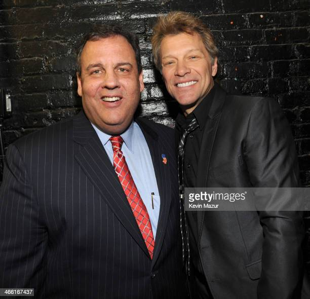 New Jersey Governor Chris Christie and Jon Bon Jovi attend 'Howard Stern's Birthday Bash' presented by SiriusXM produced by Howard Stern Productions...