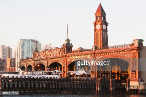 USA, New Jersey, Hoboken, View of old railroad station