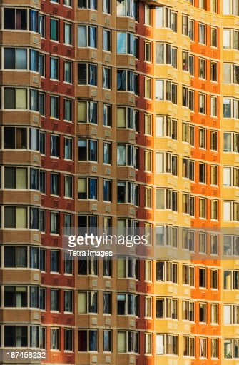USA, New Jersey, Jersey City, Apartment building : Stock Photo