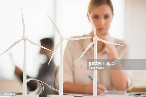 USA, New Jersey, Jersey City, Architect working in firm dealing with wind power