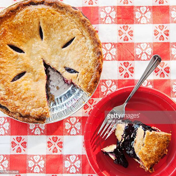 USA, New Jersey, Jersey City, Blueberry pie