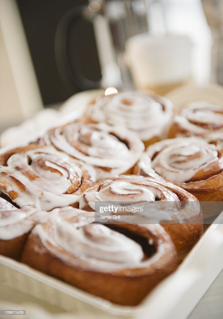 USA, New Jersey, Jersey City, Close up of cinnamon buns