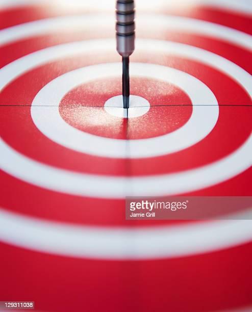 USA, New Jersey, Jersey City, Close up of darts bull's-eye