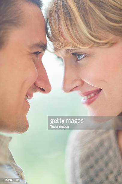 USA, New Jersey, Jersey City, Close up of happy couple