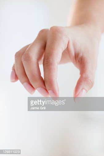 USA, New Jersey, Jersey City, Close up of woman's hand