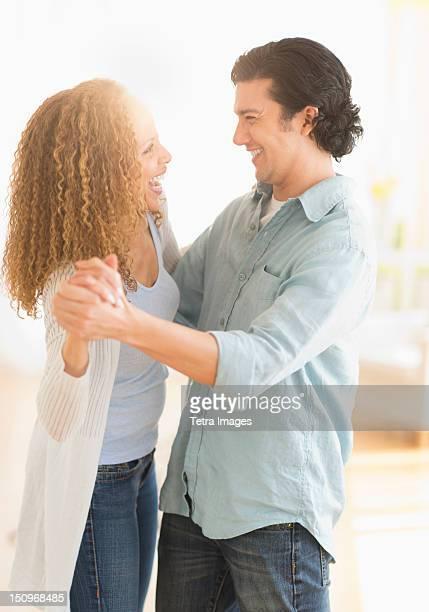 USA, New Jersey, Jersey City, Couple dancing