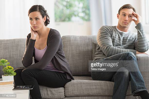 USA, New Jersey, Jersey City, Couple having argument
