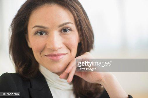 USA, New Jersey, Jersey City, Portrait of businesswoman : Stock Photo