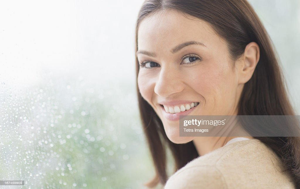 USA, New Jersey, Jersey City, Portrait of mid adult woman : Stock Photo