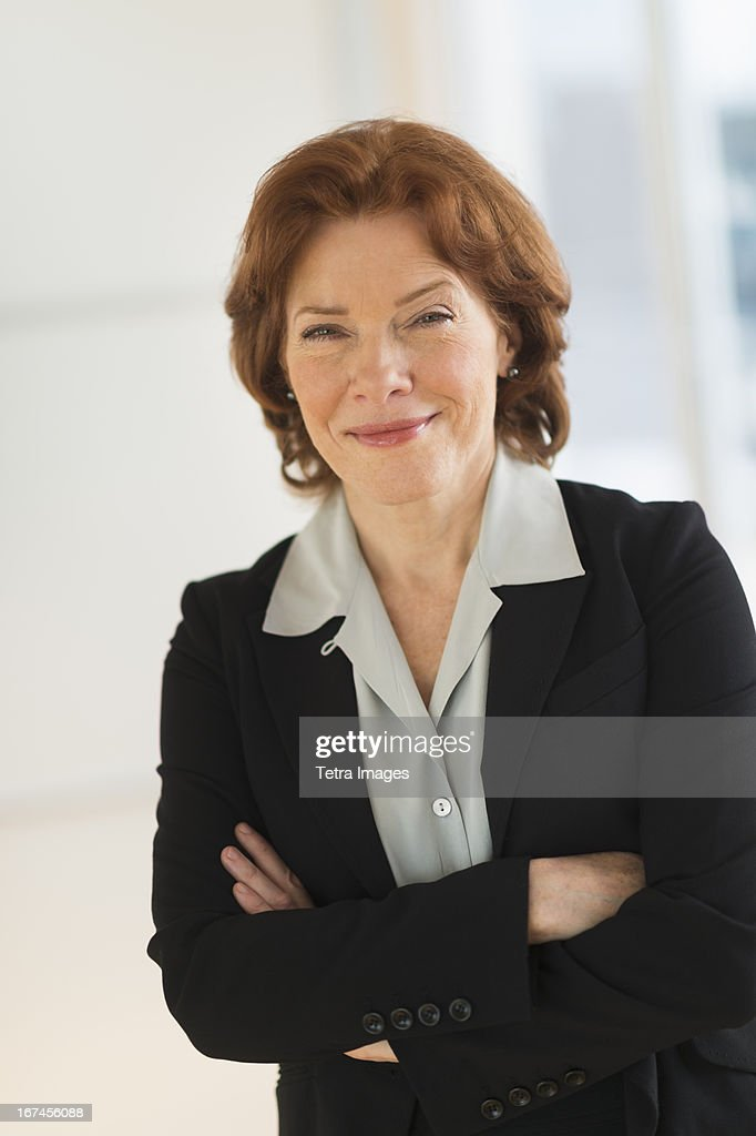 USA, New Jersey, Jersey City, Portrait of senior businesswoman : Stock Photo