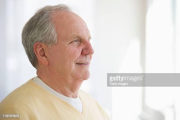 USA, New Jersey, Jersey City, Portrait of senior man