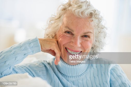 usa new jersey jersey city portrait of senior woman smiling photo getty images. Black Bedroom Furniture Sets. Home Design Ideas