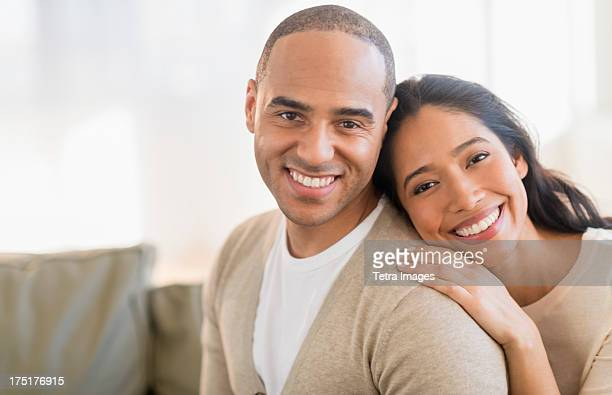 USA, New Jersey, Jersey City, Portrait of young couple