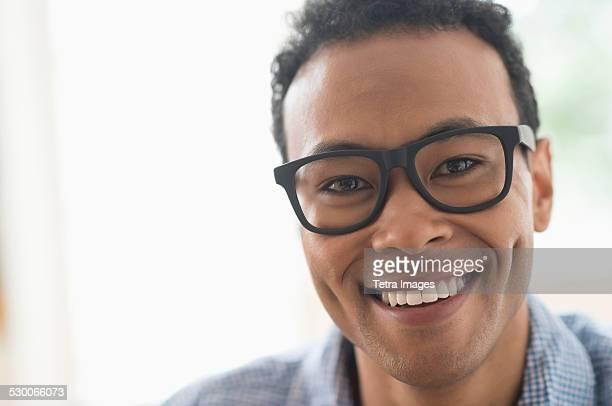 USA, New Jersey, Jersey City, Portrait of young man smiling