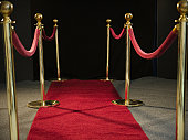 USA, New Jersey, Jersey City, Rope barriers at red carpet event