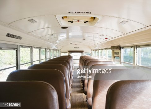 USA New Jersey Montclair Interior Of School Bus