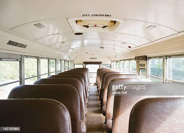 USA, New Jersey, Montclair, Interior of school bus