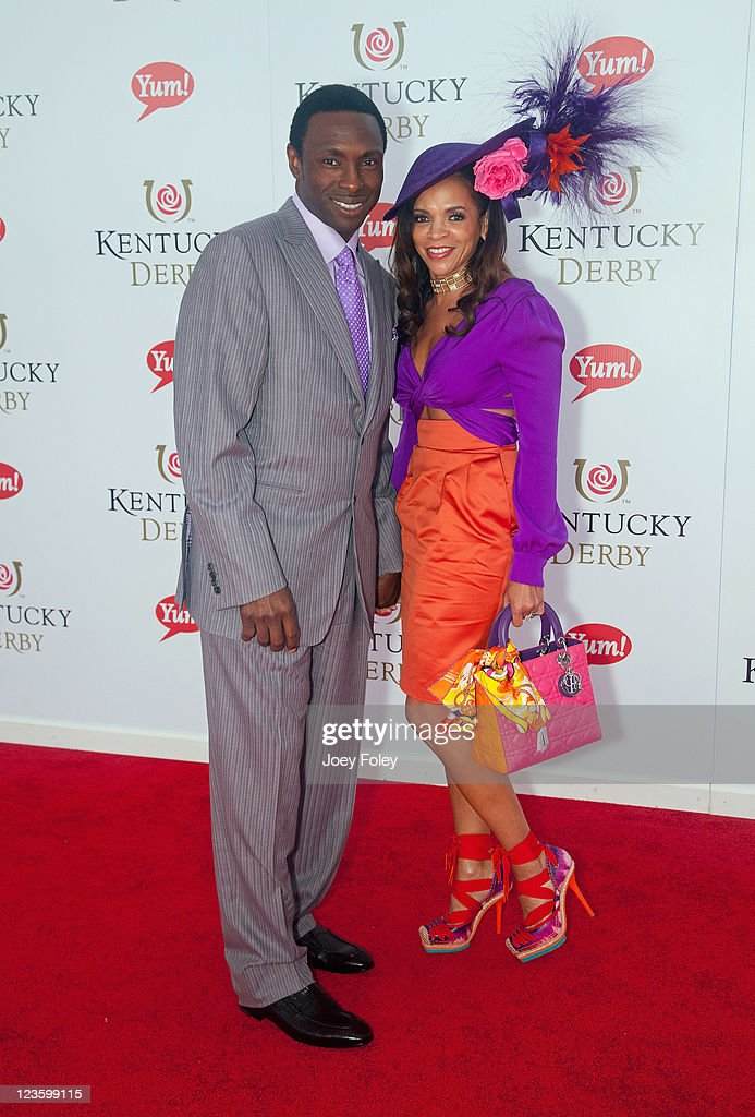 New Jersey Nets coach Avery Johnson and his wife Cassandra Johnson attend the 137th Kentucky Derby at Churchill Downs on May 7 2011 in Louisville...