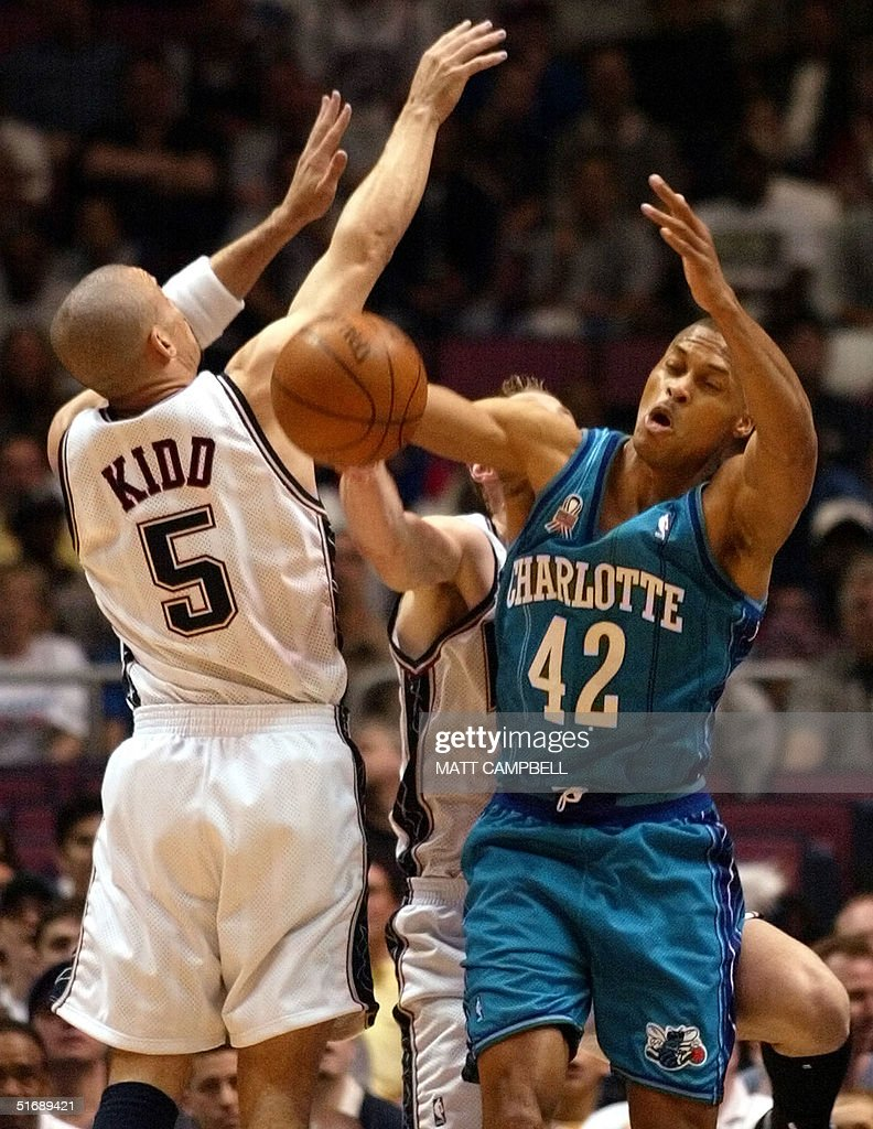 New Jersey Nets Jason Kidd L and Keith Van Horn