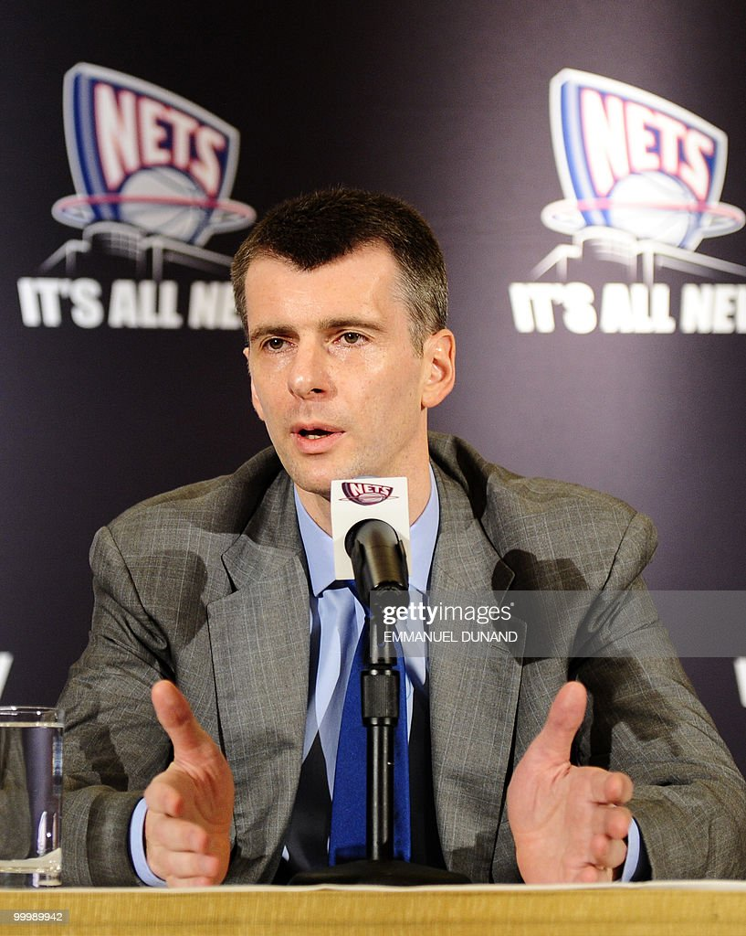 New Jersey Nets new owner, Russian billionaire Mikhail Prokhorov addresses a press conference on May 19, 2010 in New York. Russia's richest man agreed to buy 80 percent of the Nets and 45 percent of an arena project in Brooklyn from developer Bruce Ratner. AFP PHOTO/Emmanuel Dunand