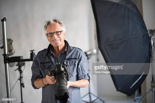 USA, New Jersey, Portrait of photographer in his studio