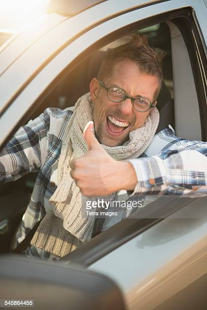 USA, New Jersey, Portrait of smiling car owner