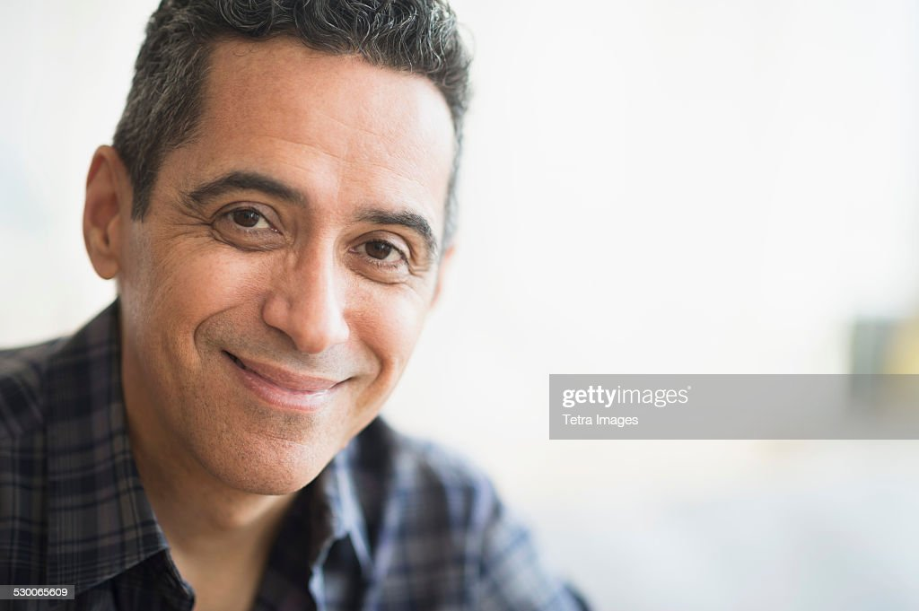 USA, New Jersey, Portrait of smiling mature man