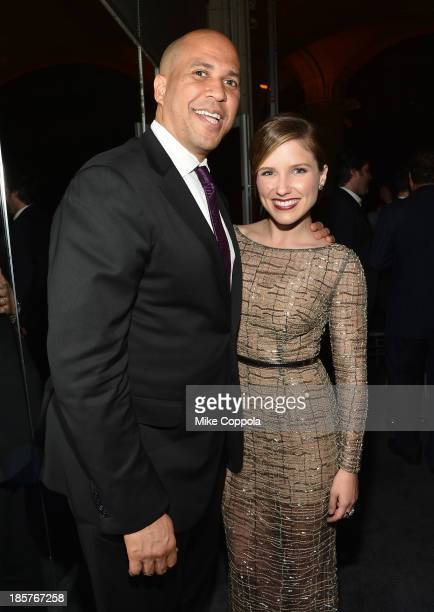 New Jersey Senatorelect Cory Booker and actress Sophia Bush attend the third annual Pencils of Promise gala at Guastavino's on October 24 2013 in New...