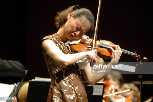New Jersey Symphony Orchestra celebrates its opening night at NJPAC on Thursday night September 9 2004This imageMidori performing Tchaikovsky's...