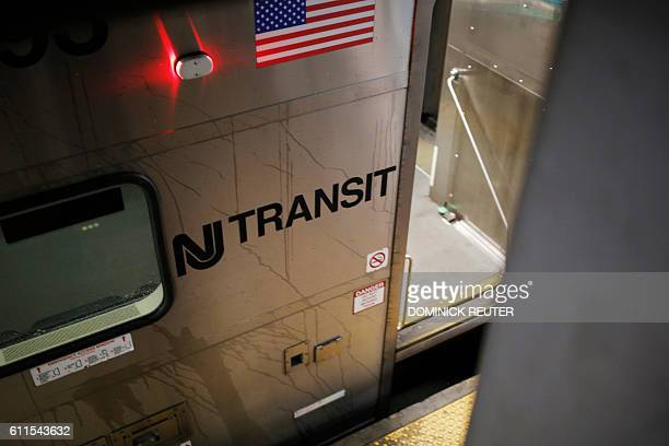 A New Jersey Transit rail car is seen at Penn Station during the morning commute on September 30 2016 in New York The New Jersey Transit system...