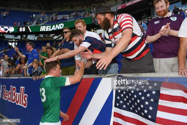 New Jersey United States 10 June 2017 Garry Ringrose of Ireland following their victory in the international match between Ireland and USA at the Red...
