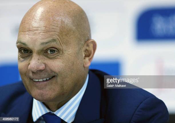 New Jordan coach Ray Wilkins speaks during a press conference after an International Friendly match between Jordan and South Korea at King Abdullah...