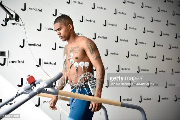 New Juventus signing Douglas Costa undergoes medical tests on July 12 2017 in Turin Italy