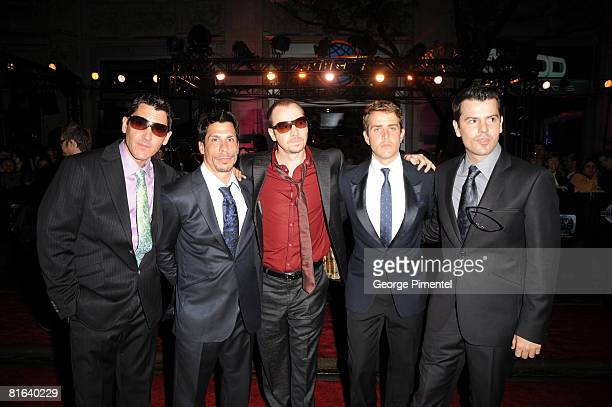 New Kids on the Block arrive at the 19th Annual MuchMusic Video Awards at Chum/City Building on June 15 2008 in Toronto Canada