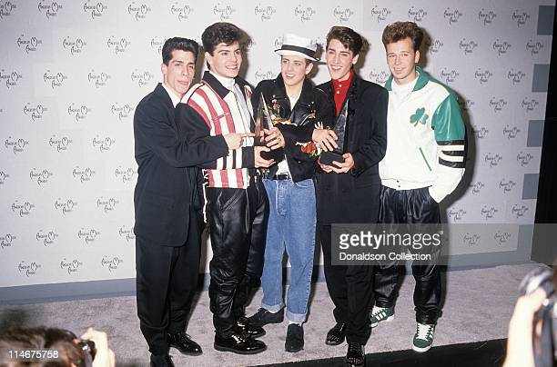 New Kids On The Block at American Music Awards in January 1990 in Los Angeles California